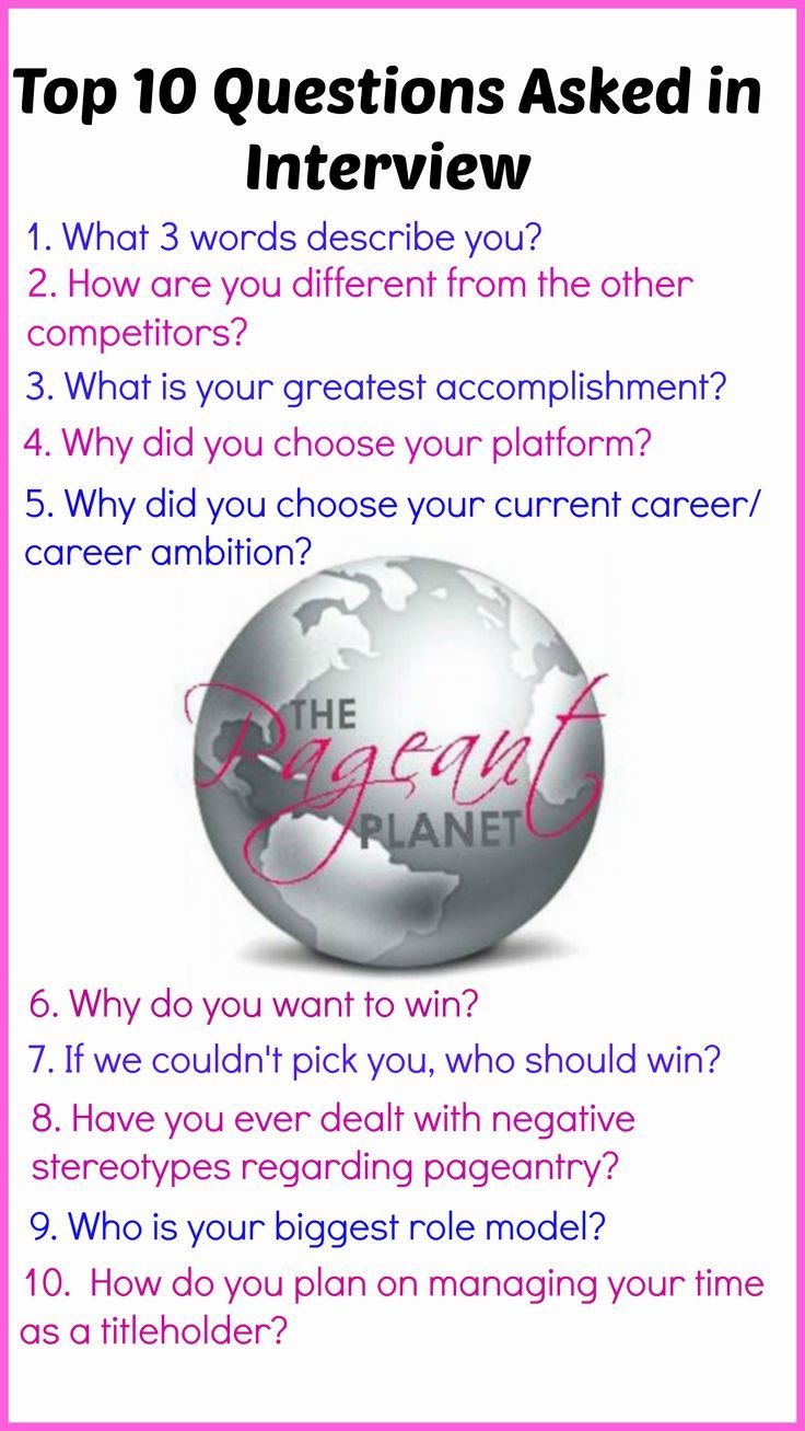 ideas about sample interview questions job most popular pageant interview questions and answers