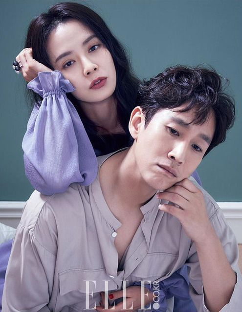 """With their drama """"My Wife Is Having An Affair This Week"""" airing episode one last Friday on JTBC, Song Ji Hyo and Lee Sun Kyun spoke with Elle regarding the story of a married couple fac…"""