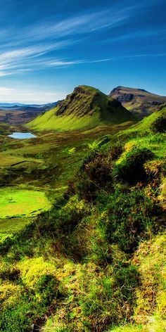 The Scottish Highlands! Scotland is one of the most beautiful places in the world! Here are 28 things to see in Scotland, including traveling to the Highlands, Edinburgh, Glasgow, Isle of Skye, and the Fairy Pools!