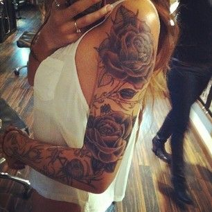Flower Sleeve Tattoo Designs For Womensleeve Flower Tattoo Tattoo Design Ideas Llvk
