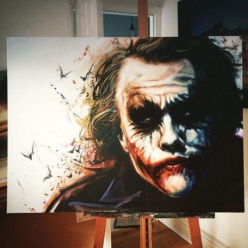 Heath Ledger Joker by Ben Jeffery