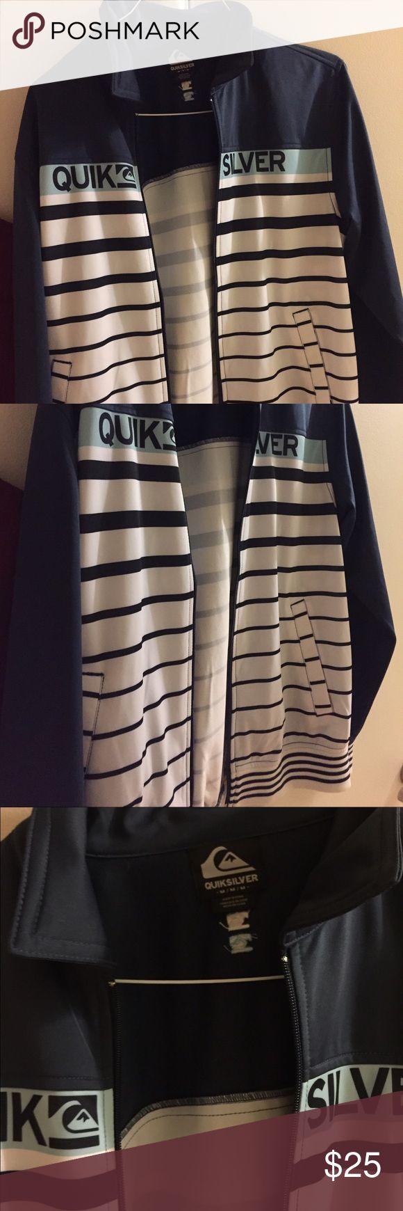 Quiksilver zip up Quiksilver medium striped zip up - perfect condition Quiksilver Jackets & Coats Lightweight & Shirt Jackets