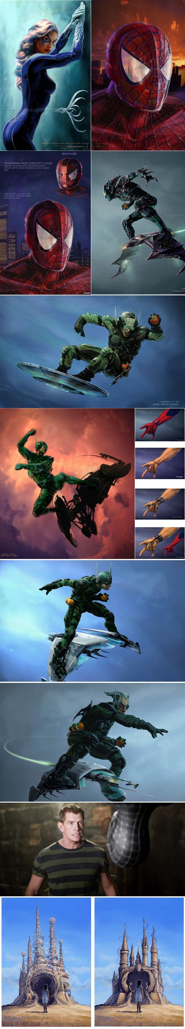 Homem-Aranha de Sam Raimi - Artes conceituais de Gata Negra e Duende Verde - Legião dos Heróis