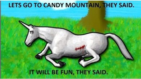 Let's go to Candy Mountain, they said...