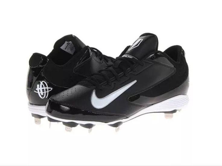 NIKE Huarache Strike Low Metal Baseball Black Size 12.5 #Nike