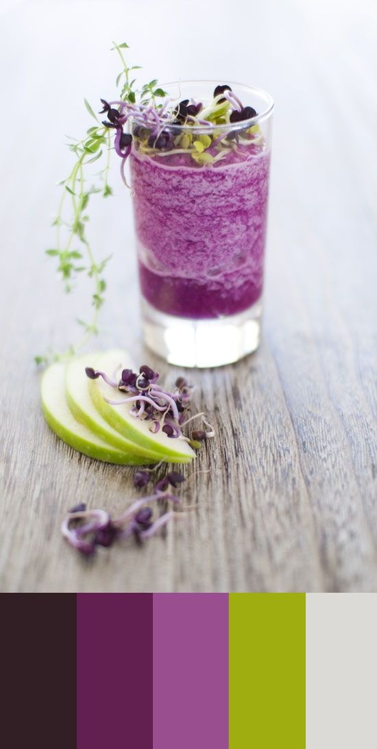 Color Study, red cabbage and granny smith apple smoothie, 44
