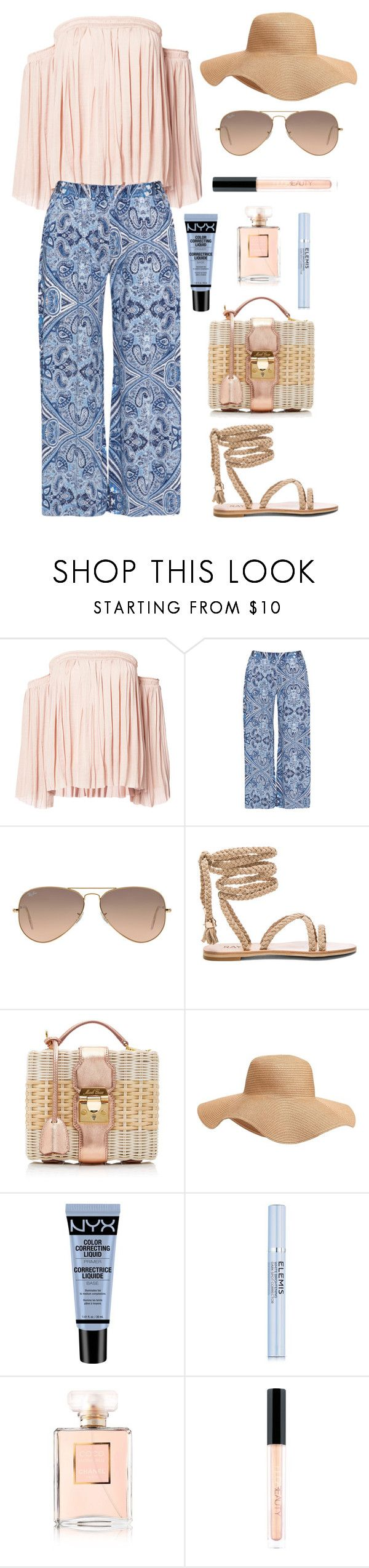 """""""Relaxed"""" by mariposa-fashion-21 ❤ liked on Polyvore featuring Elizabeth and James, Mat, Ray-Ban, Mark Cross, Old Navy, NYX, Elemis, Chanel and Huda Beauty"""