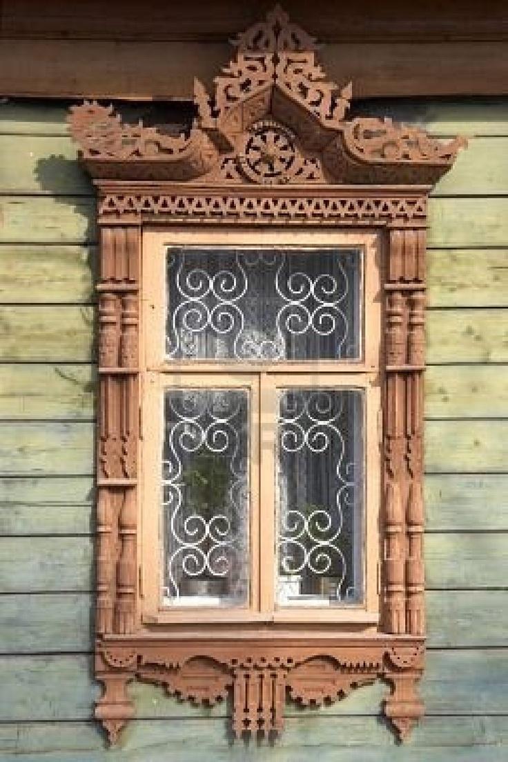 House windows frame design - Wooden