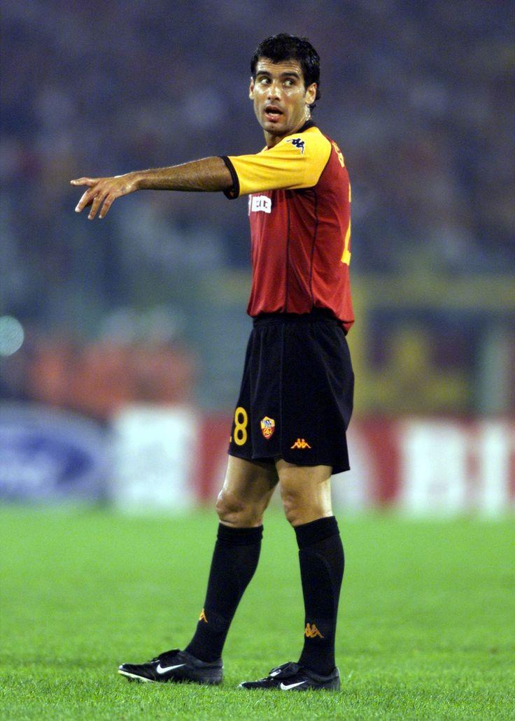 Pep Guardiola saat berseragam AS Roma ..gantengan sekarang :)