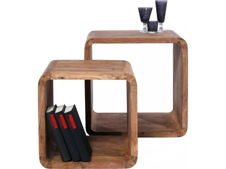 Stolik Kawowy Authentico Cube II (2/Set) — Ławy, Stoliki kawowe Kare Design — sfmeble.pl