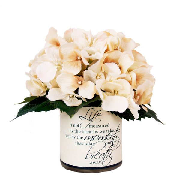 creative displays 9 cream hydrangea silk floral in quote embellished 55