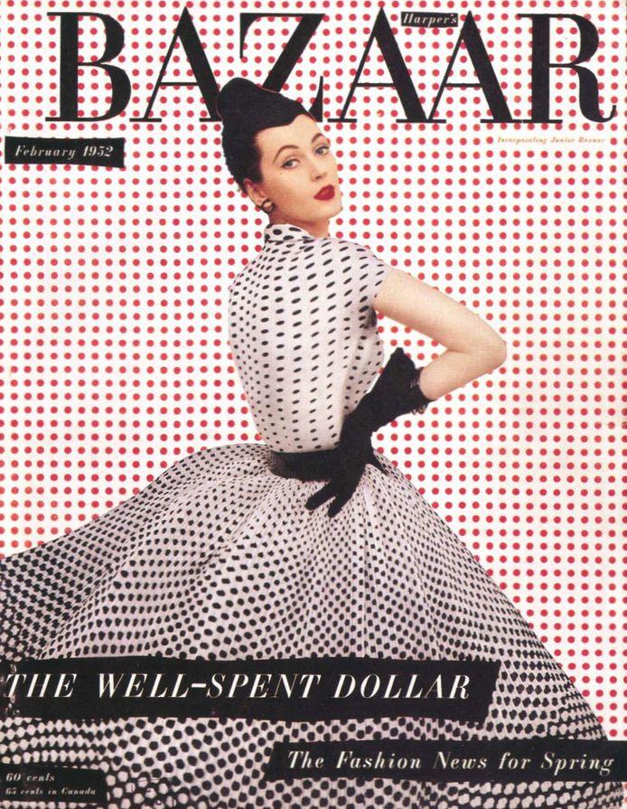 harper's bazaar, 1952: Magazine Covers, Richard Avedon, Polka Dots, Harpers Bazaar, Vintage, February 1952, Bazaars