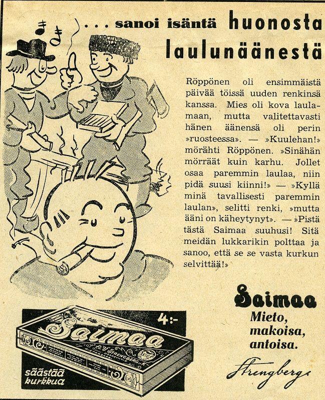 Savukkeet, Tupakka, Saimaa, Strengberg