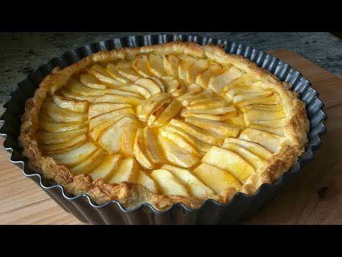 Tarta de manzana con hojaldre - YouTube