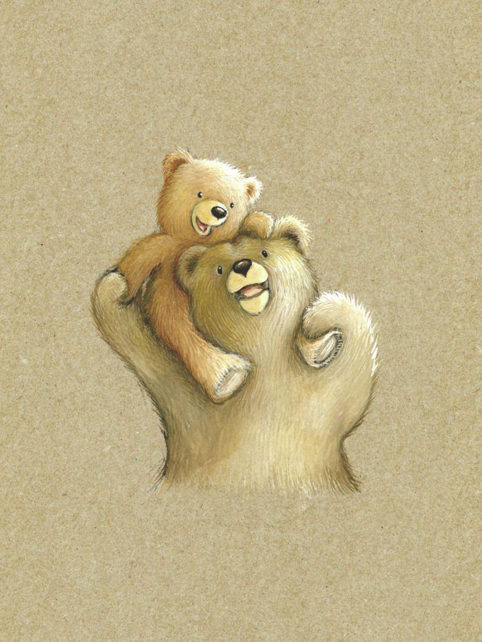 cute mummy  u0026 baby bear