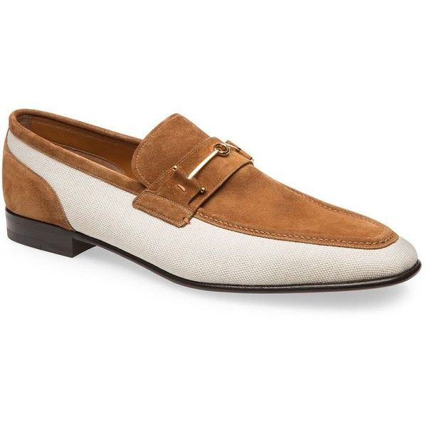 Bally Bridge Calf Leather Loafers (4,490 CNY) ❤ liked on Polyvore featuring men's fashion, men's shoes, men's loafers, cowb, mens shoes, mens horsebit loafers, mens loafer shoes, mens slip on loafers and bally mens shoes