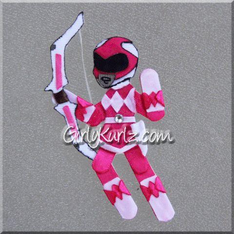 pink power ranger hair clip