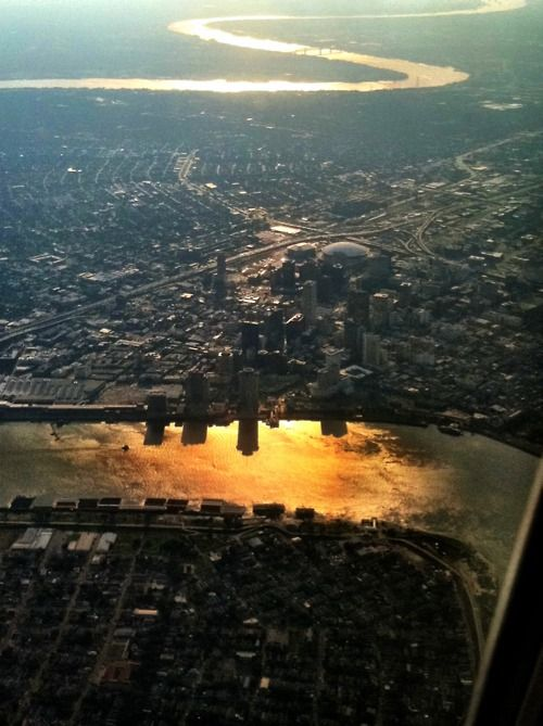New Orleans....also called the Crescent city because of how the river moves around it in a crescent shape!