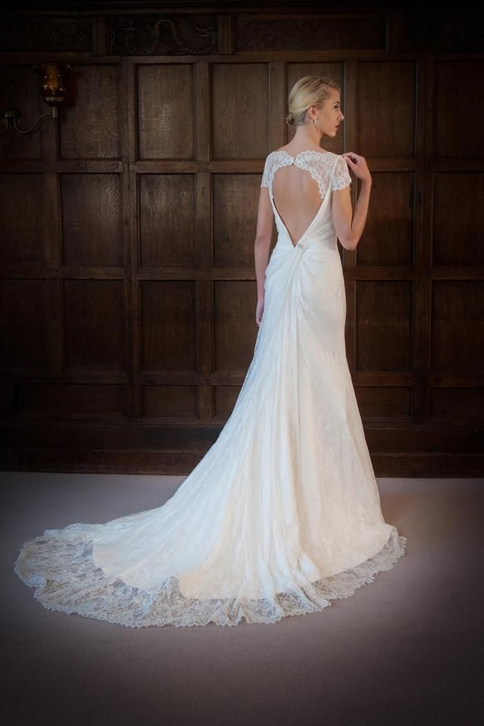Augusta Jones Wedding Dress - Stella (back). Available from Marle Mc Elheron Bridal, Arklow, Co. Wicklow