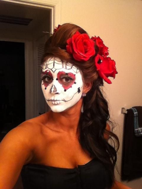 halloween hairstyles day of the dead