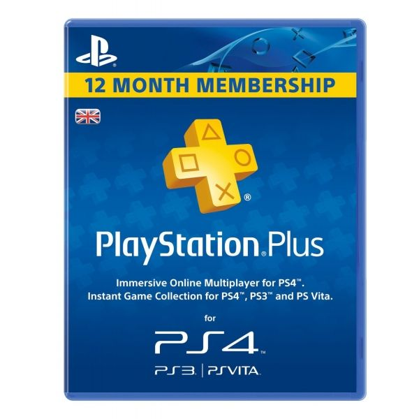 Playstation Plus Card Psn Uk  Year  Days Subscription Card