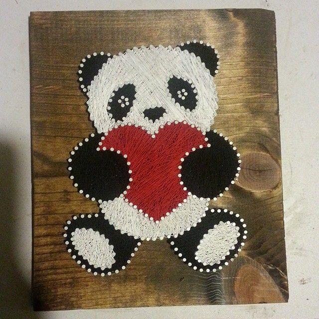panda string art $40