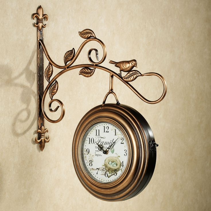 Kenway Two Sided Hanging Metal Wall Clock Clock Wall