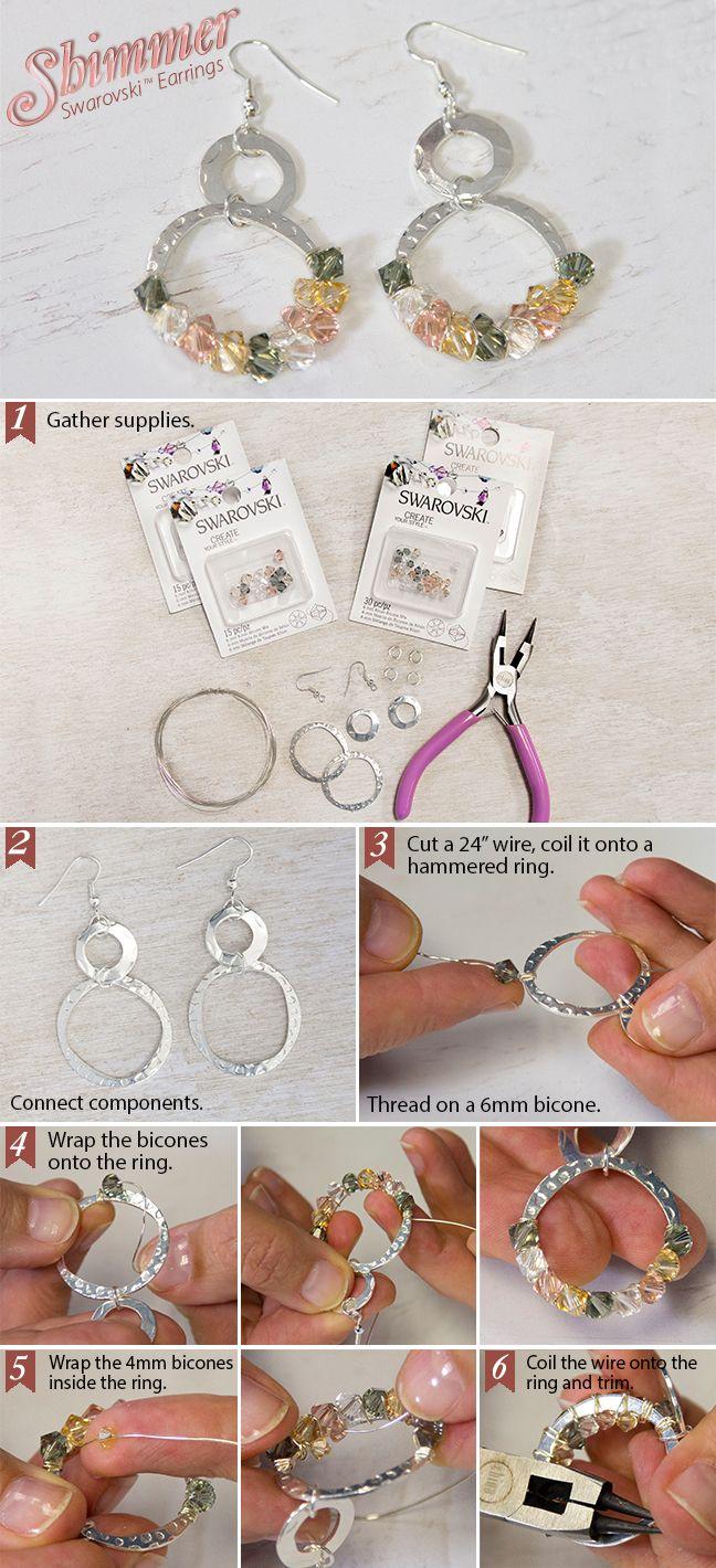 Swarovski Shimmer DIY Earrings