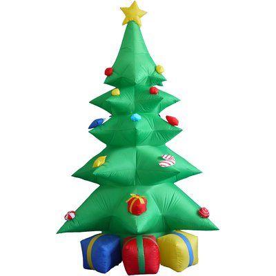 Three Posts 8 ft. Christmas Tree Decoration