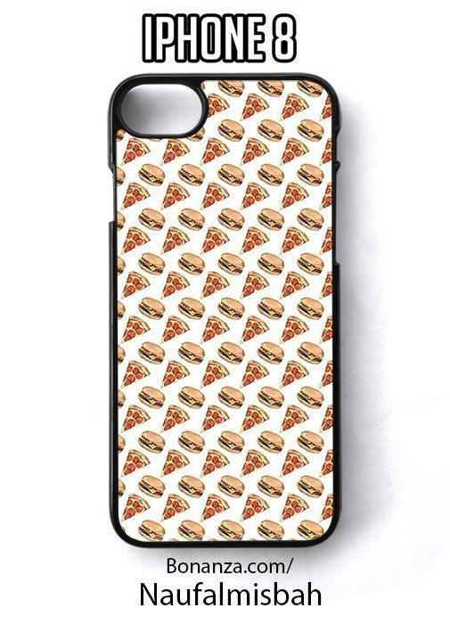 Pizza Hamburger Print Pattern iPhone 8 Case Cover - Cases, Covers & Skins