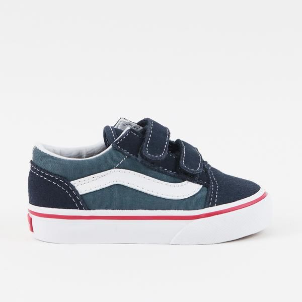 DETAILS   SHOE SIZING    The 2 Tone Old Skool V, inspired by the Vans classic skate shoe, features a low profile silhouette with sturdy canvas and suede uppers, double hook-and-loop closures, padded collars for support and flexibility, and signature rubber waffle outsoles.  Canvas / suede upper. Rubber outsole. Imported.       Vans fit true to size.