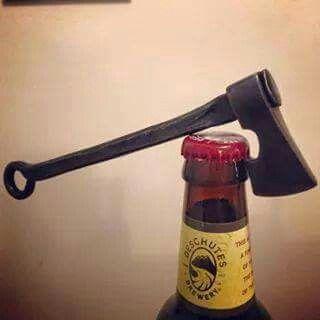 Ax bottle opener