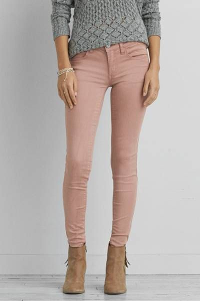 AEO Sateen X Jegging  by AEO | Low twist yarn enhances the natural softness of our Extreme Jegging in AEO Sateen X. Innovative stretch technology won't bag out and adds next-level comfort.  Shop the AEO Sateen X Jegging  and check out more at AE.com.