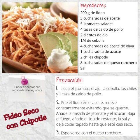 Fideo Seco con Chipotle  (4 porciones)