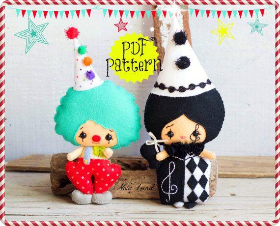 He encontrado este interesante anuncio de Etsy en https://www.etsy.com/es/listing/186072011/pdf-pattern-clowns-plush-doll-pattern