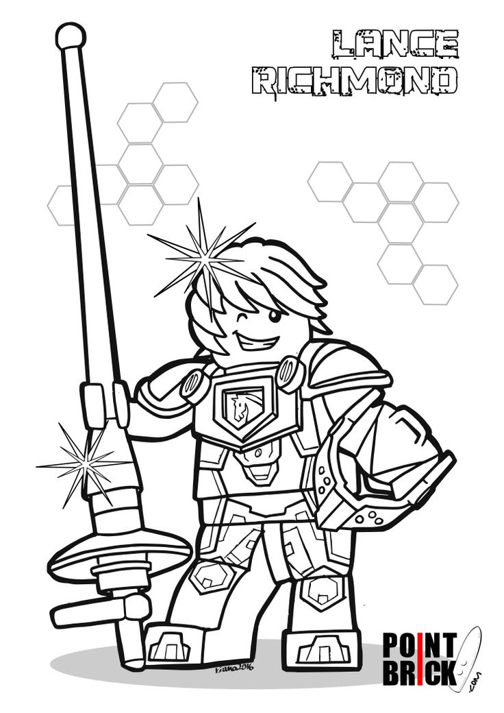 Disegni da Colorare LEGO Nexo Knights