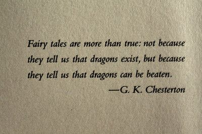 I believe in Fairy Tales, do you?