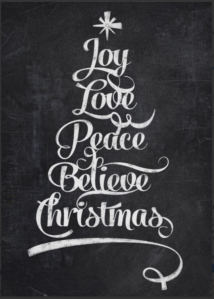 chalkboard Christmas tree calligraphy - http://www.zazzle.com/chalkboard_christmas_joy_tree-228169421566243498?rf=238087280021604351