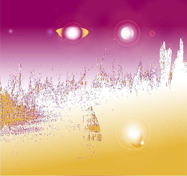 Trylogy-Eden, digital art, by Ron Labryzz