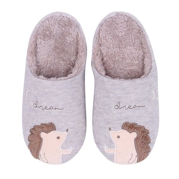 Slippers Hedgehog Animal Bedroom Christmas Gray Hedgehog Cn188wlg74m Slippers Animal Bedroom Outdoor Slippers