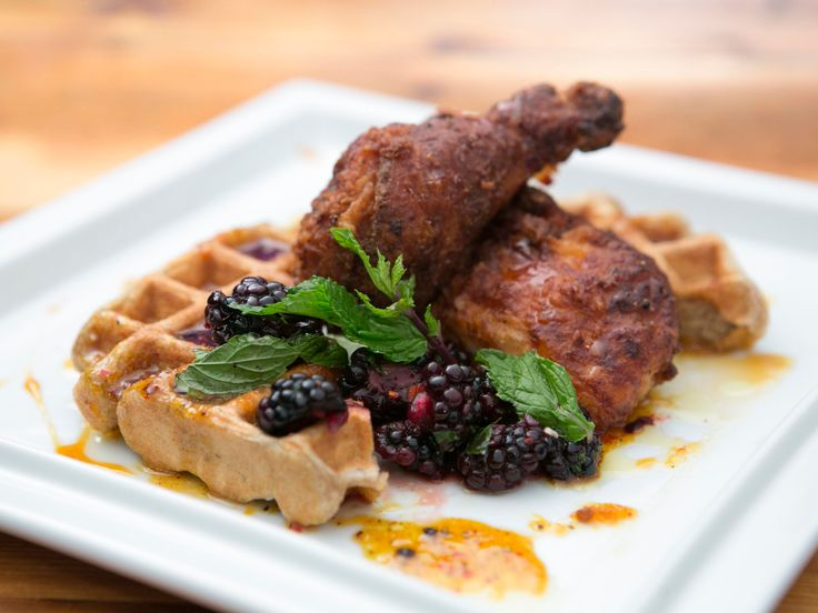 As seen on Beat Bobby Flay: Battered Fried Chicken and Waffles with Bourbon-Tangerine Syrup