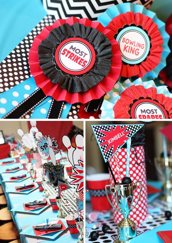 love the idea to give out ribbons for most strikes and most spares etc.