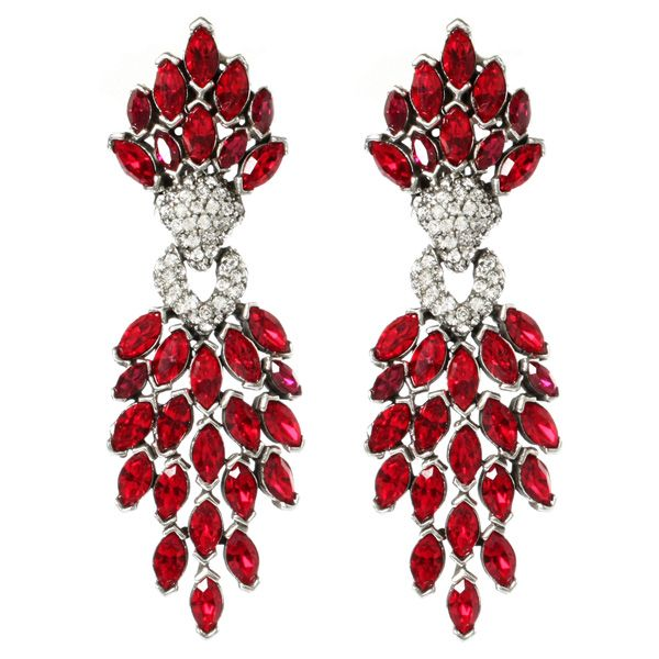 Ruby Deco Chandelier Earrings | Ben Amun | AHAlife
