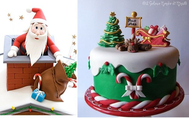 Christmas Cake Decoration Ideas Pinterest : Christmas cake decorating ideas from Baking Obsession.com ...