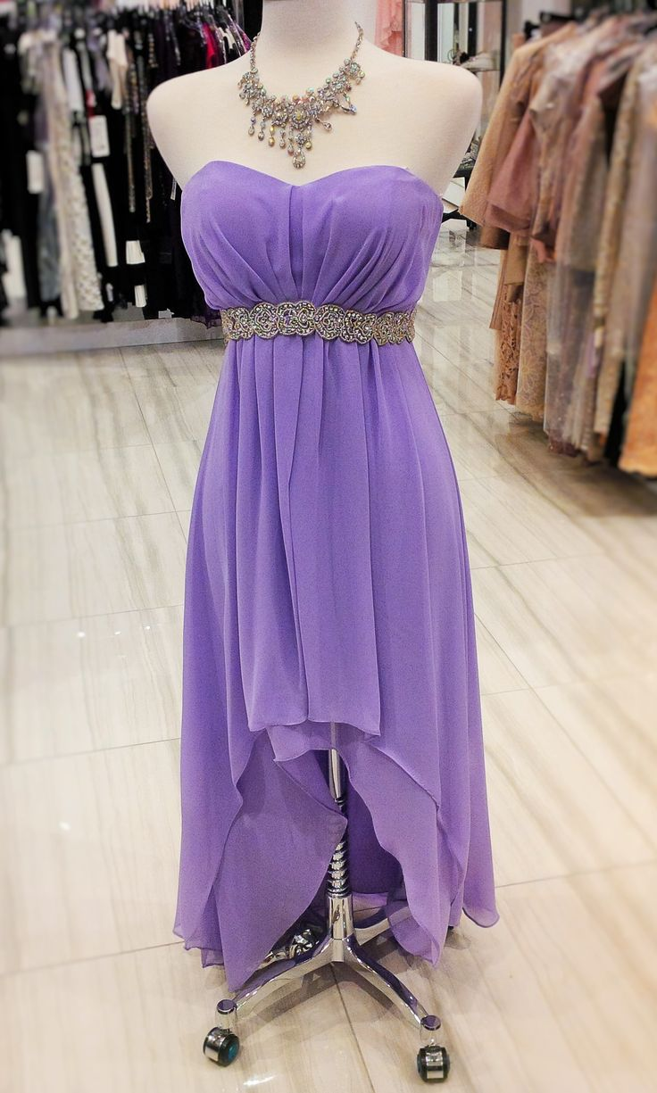 High/low dress in lilac! #prom #classicboutique #pickeringtowncenter #eastgwillimbury #prompromprom #classic #perfectforprom