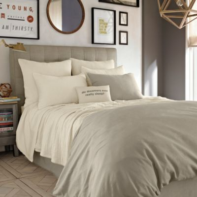 Kenneth Cole Reaction Home Mineral Coverlet in Oatmeal - BedBathandBeyond.com