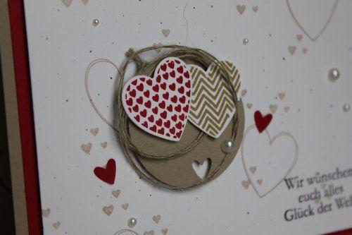Hochzeitskarte, Bild2,  gebastelt mit Produkten, Stanzen und Stempeln von Stampin' Up!