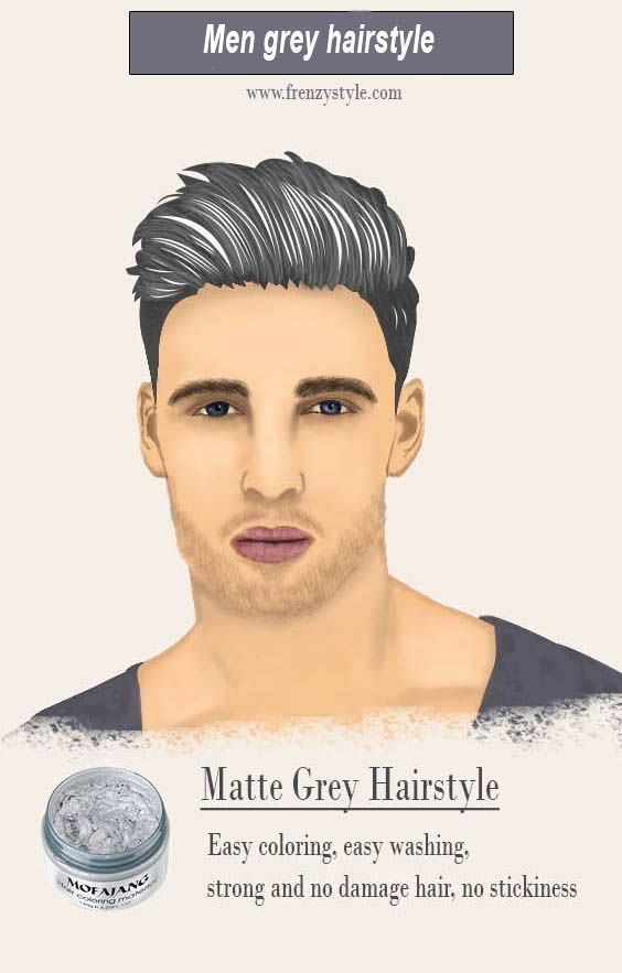 Men Hairstyle And Haircuts Grey Wax Grey Hair Pomade 2017 Hairstyle For Guys Mens Hairstyles Hair Styles Hair Pomade