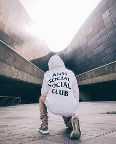 White ANTI SOCIAL SOCIAL CLUB Hoodie With Tan Joggers
