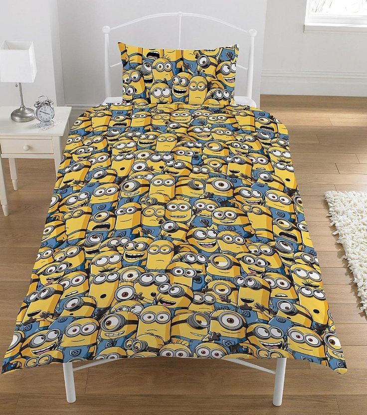 Despicable Me Minions Junior Cot Bed Duvet Quilt Cover Bedding Set Kids Toddler